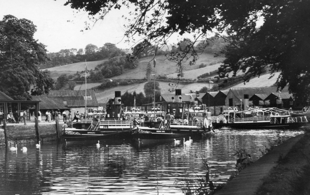 Kingswear Castle and her sisters Compton Castle and Totnes Castle at Totnes.